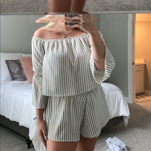 Shorts and top two piece set